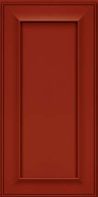 Square Recessed Panel - Solid (AB6M) Maple in Cardinal - Wall