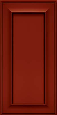 Square Recessed Panel - Solid (AB6M) Maple in Cardinal w/Onyx Glaze - Wall