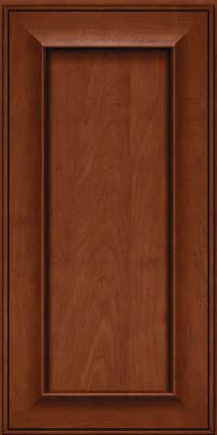 Square Recessed Panel - Solid (AB6M) Maple in Chestnut w/Onyx Glaze - Wall