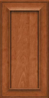 Square Recessed Panel - Solid (AB6M) Maple in Cinnamon - Wall