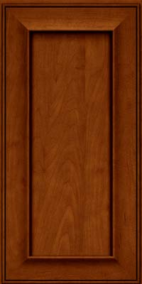 Square Recessed Panel - Solid (AB6M) Maple in Cinnamon w/Onyx Glaze - Wall