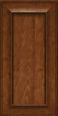 Square Recessed Panel - Solid (AB6M) Maple in Cognac - Wall