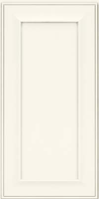 Square Recessed Panel - Solid (AB6M) Maple in Dove White - Wall