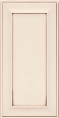 Square Recessed Panel - Solid (AB6M) Maple in Dove White w/Cocoa Glaze - Wall