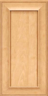 Square Recessed Panel - Solid (AB6M) Maple in Honey Spice - Wall