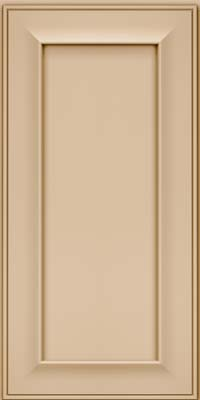 Square Recessed Panel - Solid (AB6M) Maple in Mushroom - Wall