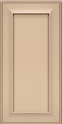 Square Recessed Panel - Solid (AB6M) Maple in Mushroom w/Cocoa Glaze - Wall