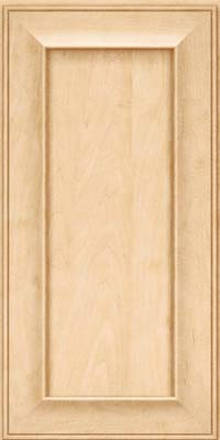 Square Recessed Panel - Solid (AB6M) Maple in Natural - Wall