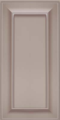 Square Recessed Panel - Solid (AB6M) Maple in Pebble Grey w/ Coconut Glaze - Wall