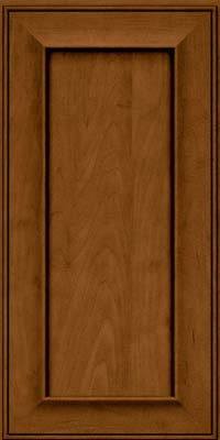 Square Recessed Panel - Solid (AB6M) Maple in Rye w/Sable Glaze - Wall