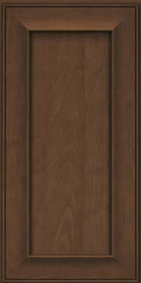 Square Recessed Panel - Solid (AB6M) Maple in Saddle - Wall