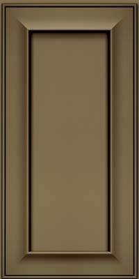 Square Recessed Panel - Solid (AB6M) Maple in Sage w/Cocoa Glaze - Wall