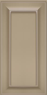 Square Recessed Panel - Solid (AB6M1) Maple in Willow w/Coconut Glaze - Wall