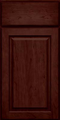 Square Raised Panel - Veneer (AB9C) Cherry in Cabernet - Base