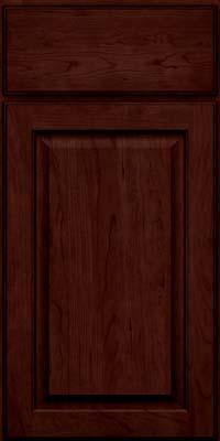 Square Raised Panel - Veneer (AB9C) Cherry in Cabernet w/Onyx Glaze - Base