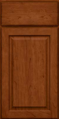 Square Raised Panel - Veneer (AB9C) Cherry in Cinnamon - Base