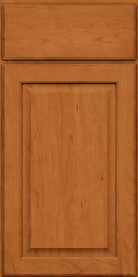 Square Raised Panel - Veneer (AB9C) Cherry in Honey Spice - Base