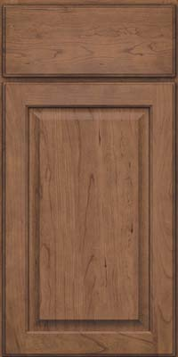 Square Raised Panel - Veneer (AB9C) Cherry in Husk Suede - Base