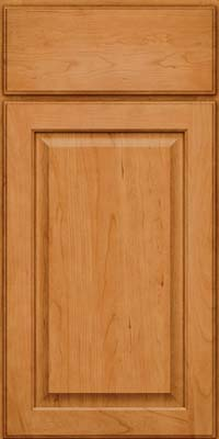 Square Raised Panel - Veneer (AB9C) Cherry in Natural - Base