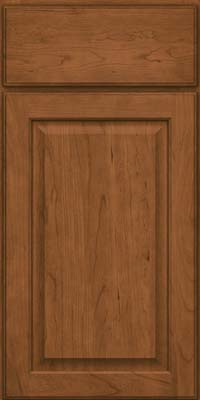 Square Raised Panel - Veneer (AB9C) Cherry in Rye - Base