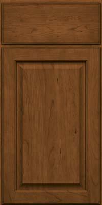 Square Raised Panel - Veneer (AB9C) Cherry in Rye w/Onyx Glaze - Base