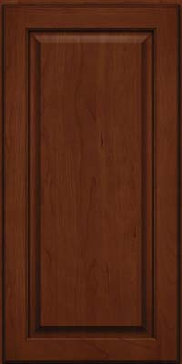 Square Raised Panel - Veneer (AB9C) Cherry in Autumn Blush w/Onyx Glaze - Wall