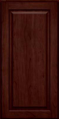 Square Raised Panel - Veneer (AB9C) Cherry in Cabernet - Wall