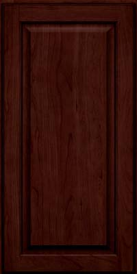 Square Raised Panel - Veneer (AB9C) Cherry in Cabernet w/Onyx Glaze - Wall