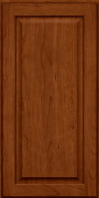 Square Raised Panel - Veneer (AB9C) Cherry in Cinnamon w/Onyx Glaze - Wall