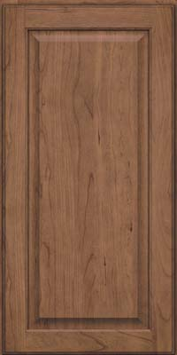 Square Raised Panel - Veneer (AB9C) Cherry in Husk Suede - Wall