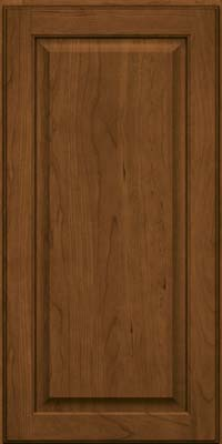 Square Raised Panel - Veneer (AB9C) Cherry in Rye w/Onyx Glaze - Wall