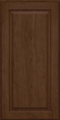 Square Raised Panel - Veneer (AB9C) Cherry in Saddle Suede - Wall