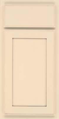 Square Recessed Panel - Veneer (AC4M) Maple in Biscotti w/ Cinder Glaze - Base