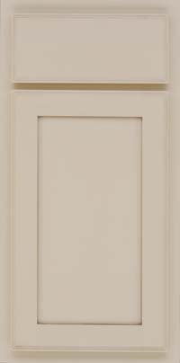 Square Recessed Panel - Veneer (AC4M) Maple in Canvas w/Cocoa Glaze - Base