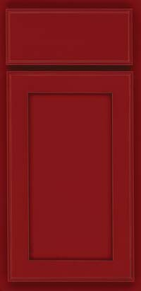 Square Recessed Panel - Veneer (AC4M) Maple in Cardinal w/Onyx Glaze - Base