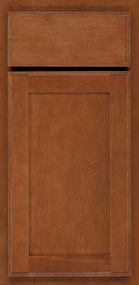 Square Recessed Panel - Veneer (AC4M) Maple in Chestnut - Base