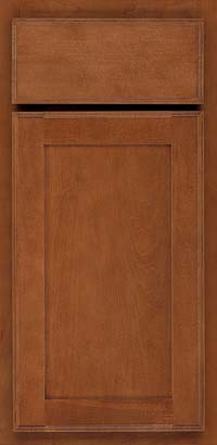 Square Recessed Panel - Veneer (AC4M) Maple in Cinnamon - Base