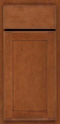 Square Recessed Panel - Veneer (AC4M) Maple in Cinnamon - Base