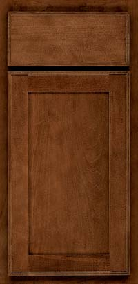 Square Recessed Panel - Veneer (AC4M) Maple in Cognac - Base