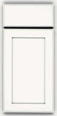 Square Recessed Panel - Veneer (AC4M) Maple in Dove White - Base