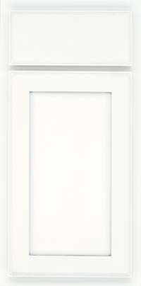 Square Recessed Panel - Veneer (AC4M) Maple in Dove White w/ Cinder Glaze - Base