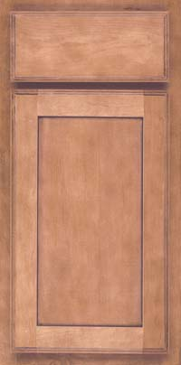 Square Recessed Panel - Veneer (AC4M) Maple in Ginger w/Sable Glaze - Base