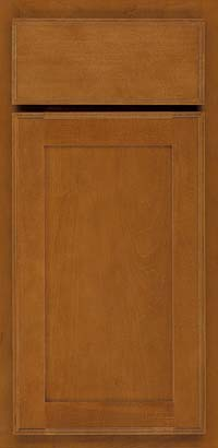 Square Recessed Panel - Veneer (AC4M) Maple in Golden Lager - Base