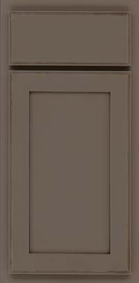 Square Recessed Panel - Veneer (AC4M) Maple in Greyloft w/ Sable Glaze - Base
