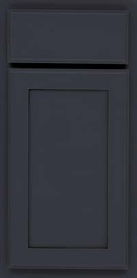 Square Recessed Panel - Veneer (AC4M) Maple in Midnight w/ Onyx Glaze - Base