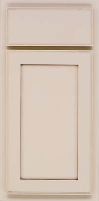 Square Recessed Panel - Veneer (AC4M) Maple in Mushroom w/Cocoa Glaze - Base