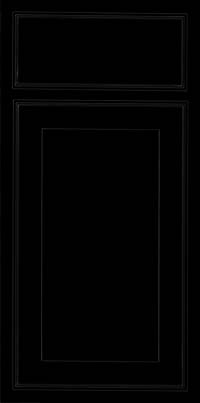 Square Recessed Panel - Veneer (AC4M) Maple in Onyx - Base