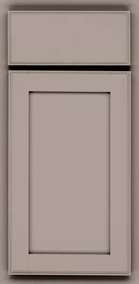 Square Recessed Panel - Veneer (AC4M) Maple in Pebble Grey - Base