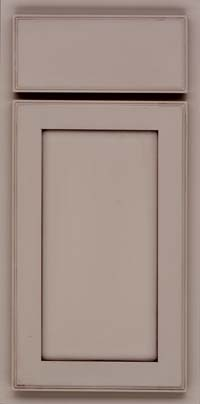 Square Recessed Panel - Veneer (AC4M) Maple in Pebble Grey w/ Cocoa Glaze - Base