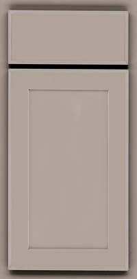 Square Recessed Panel - Veneer (AC4M) Maple in Pebble Grey w/ Coconut Glaze - Base